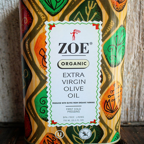 Extra Virgin Olive Oil, Organic Zoe, 750ml