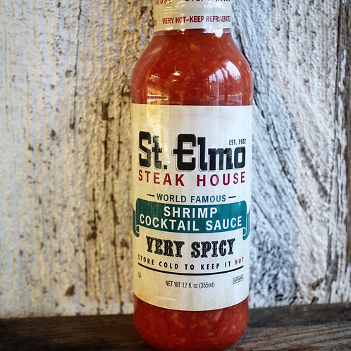 Cocktail Sauce, Spicy, St. Elmo, 12oz