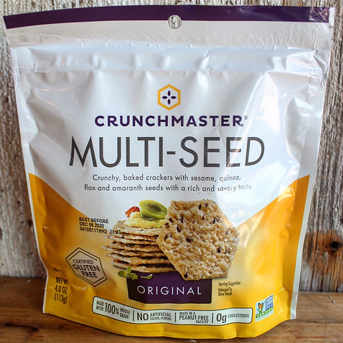 Original Multi-Seed Crackers, Crunchmaster, 4oz. Bag