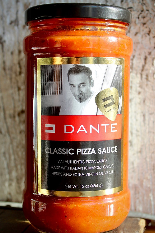 Classic Pizza Sauce, Dante's, 16 oz.