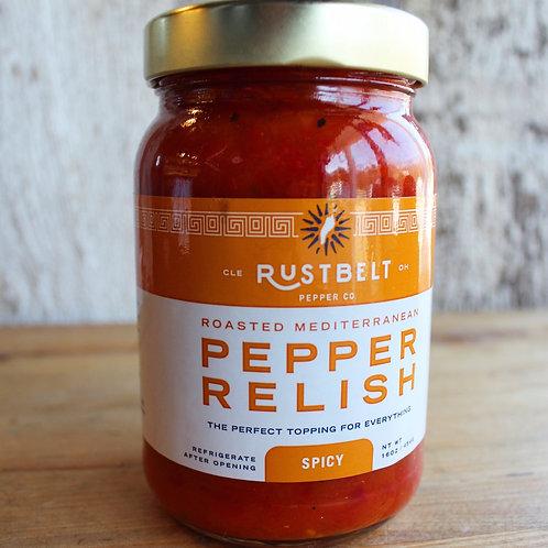 Pepper Relish, Spicy, Rust Belt, 16 oz.