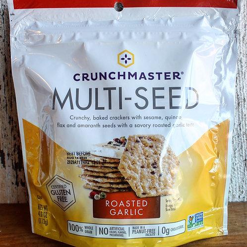 Roasted Garlic Multi-seed Crackers, Crunchmaster, 4oz. Bag