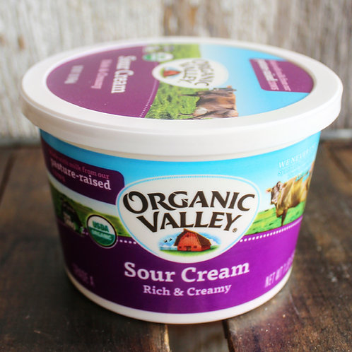 Sour Cream, Organic Valley, 16 oz.