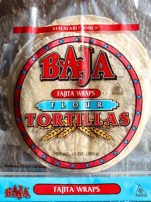 Tortillas, Flour, Fajita Size, Baja, 10 oz.