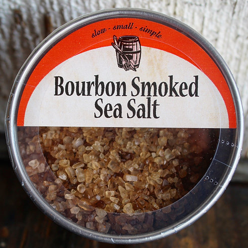 Bourbon Smoked Sea Salt, Bourbon Barrel Foods, 5oz