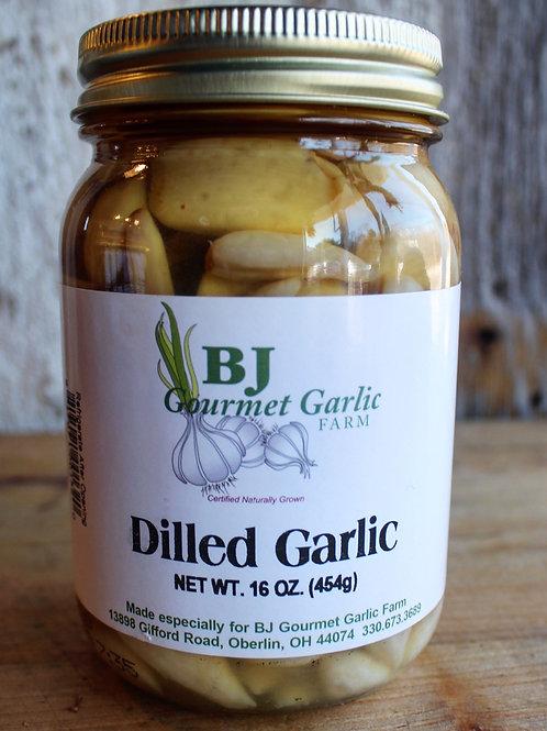 Dilled Garlic, BJ Gourmet Garlic Farm, 16. oz. Jar
