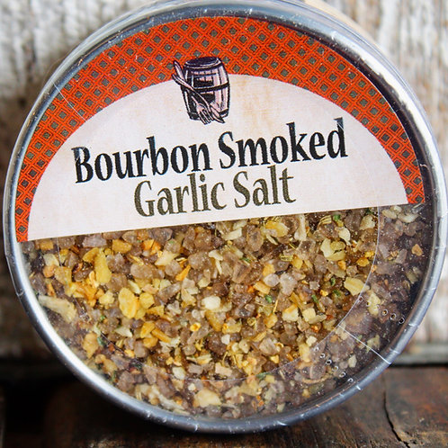 Garic Salt, Bourbon Smoked, Bourbon Barrel, 2 oz