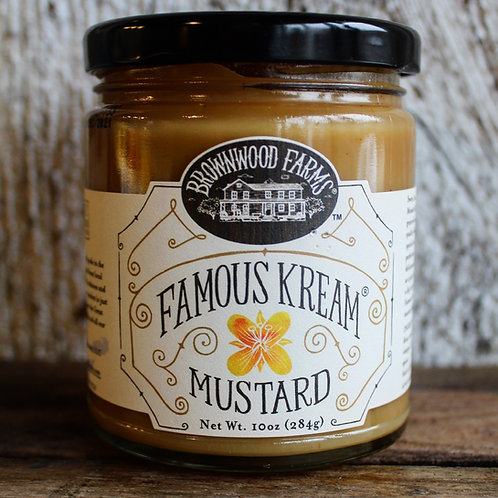 Famous Kream Mustard, Brownwood Farms, 10oz