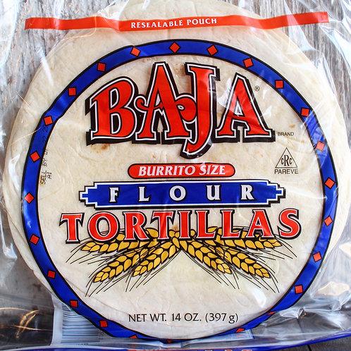 Baja Flour Tortillas, Burrito Size, Baja