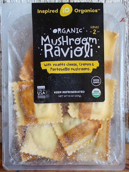Mushroom Ravioli, Inspired Organics, 8oz.