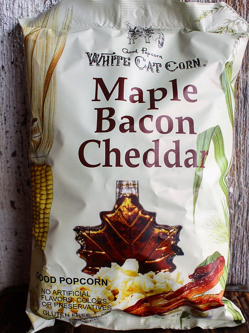 Maple Bacon Popcorn, White Cat Popcorn