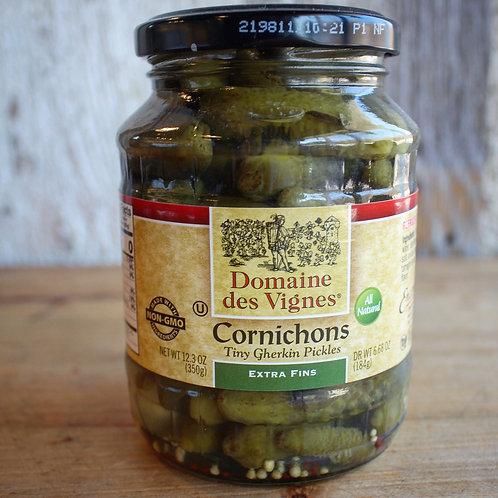 Cornichons, Domaine des Vignes, 12.3 oz. Jar