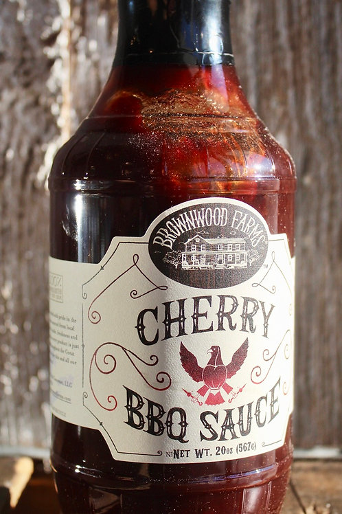 Cherry Barbecue Sauce, Brownwood Farms, 20 oz.
