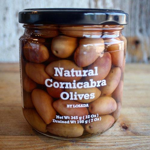 Natural Cornicabra Olives, Losada, 12 oz.