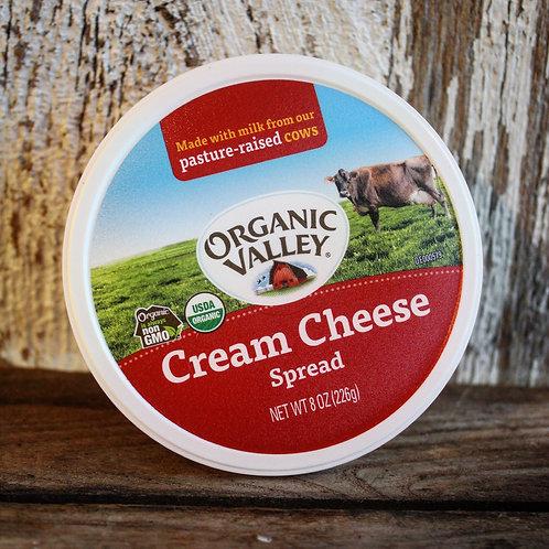 Cream Cheese, Organic Valley, 8oz Tub