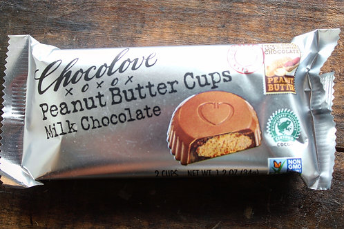 Peanut Butter Milk Chocolate Cups, Chocolove, 2/pk