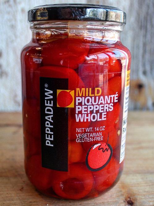 Piquanté Peppers Whole, Mild, Peppadew, 14 oz. Jar