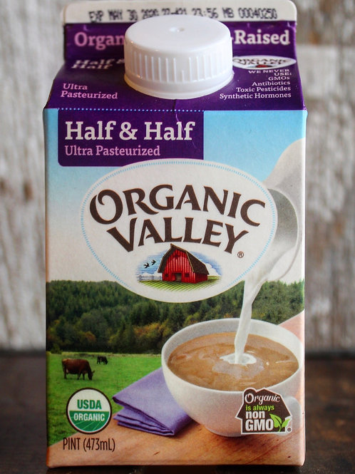 Half & Half, Organic Valley, Pint