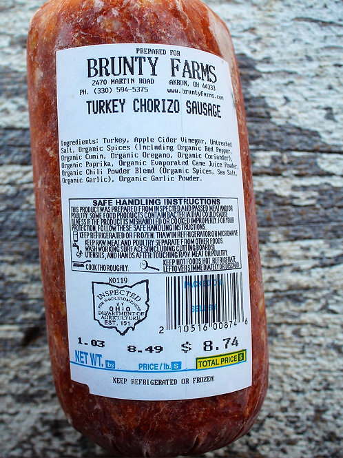 Turkey Chorizo, 1#