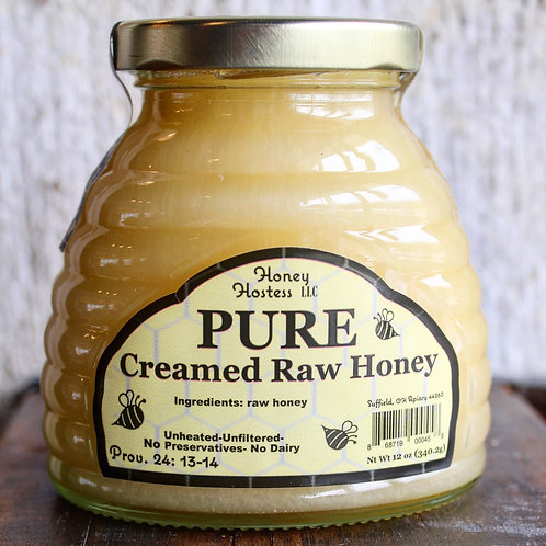 Pure Creamed Honey, Honey Hostess, 12 oz.