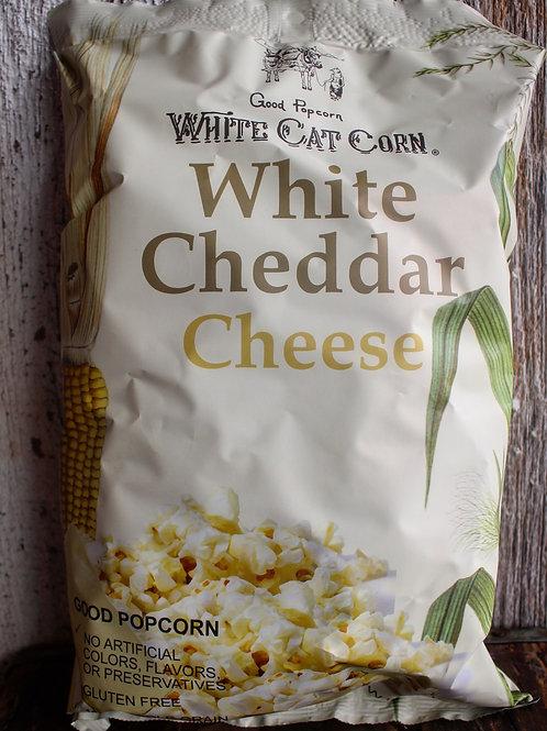 White Cheddar Cheese Popcorn, White Cat Popcorn