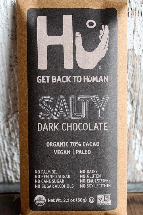 Salty Dark Chocolate Bar, Hu, 2.1 oz