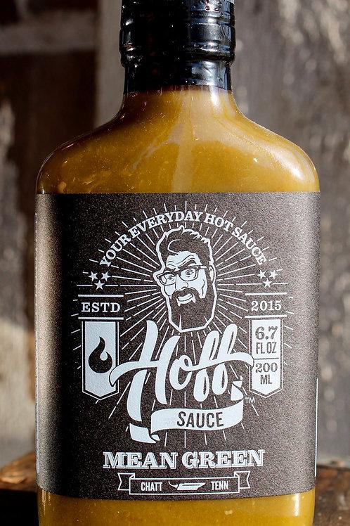 Hot Sauce, Mean Green, Hoff's, 6.7 fl. oz.