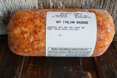 Hot Italian Pork Sausage Bulk, 1#