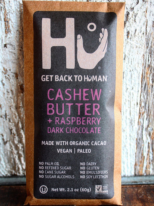 Cashew Butter & Raspberry Dark Chocolate Bar, Hu Kitchen