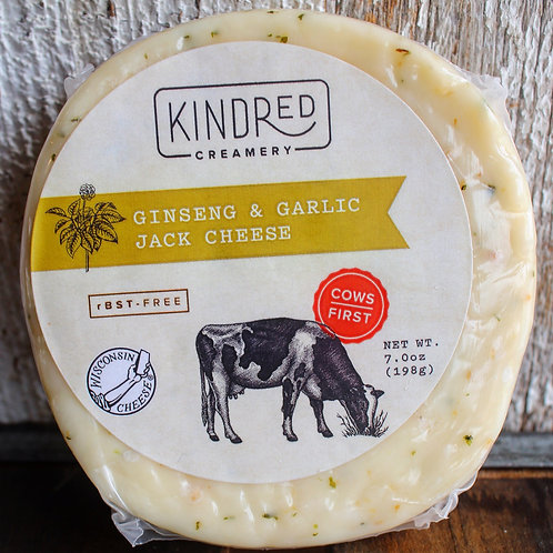 Ginseng & Garlic Jack Cheese, Kindred Creamery, 7 oz.