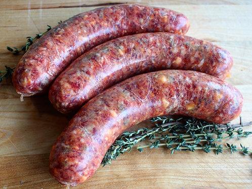 Bacon Cheddar Beef Bratwurst, 4/pk