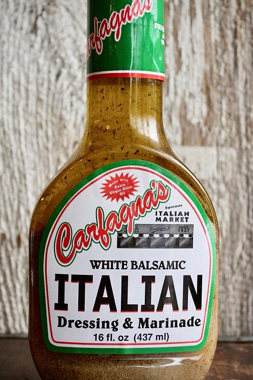 Italian Dressing - White Balsamic, Carfagnas, 16 oz.