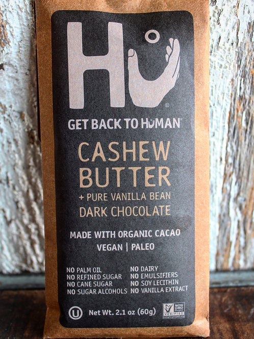 Cashew Butter & Vanilla Bean Dark Chocolate Bar, Hu Kitchen