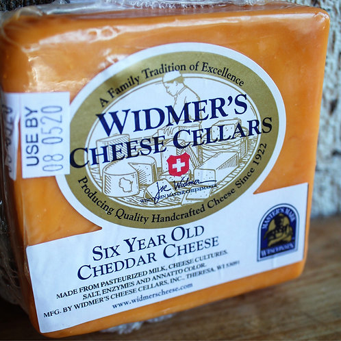 Six Year Cheddar, Widmer Cheese Cellars, 6-8oz