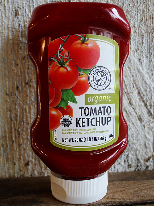 Organic Tomato Ketchup, Monarch 20oz