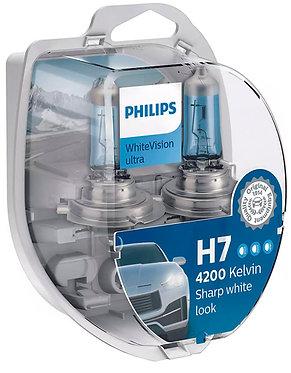 Автолампа Philips Н7/W5W 12972 WVU 12V WhiteVision ultra +60% (4200K) (блістер)