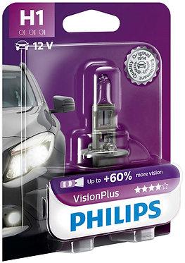 Автолампа Philips VP 12258-B H1 Vision Plus 12V 55W (P14,5s) (блістер)