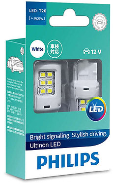 Автолампа вказівна Philips W21 LED white 11065 ULW 12V X2