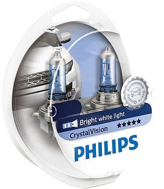 Автолампа Philips Н4/W5W 12342 CV 12V Cristal Vision +2x W5W 4300К SM (блістер)