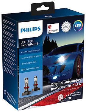 Комплект Philips LED Fog H8/H11/H16 11366 XUW X-treme Ultinon Gen2 (+250%) X2