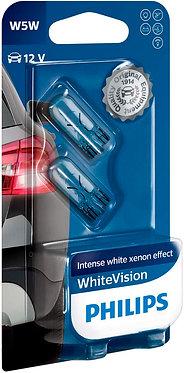 Автолампа Philips WV 12961NBV WhiteVision W5W-02B 12V 5W (W2,1x9,5d) (блістер)