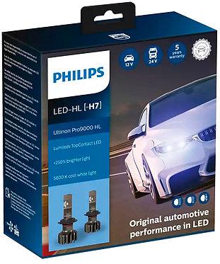 Комплект автоламп Philips LED H7 11972U90CWX2 Ultinon Pro9000 +250% X2
