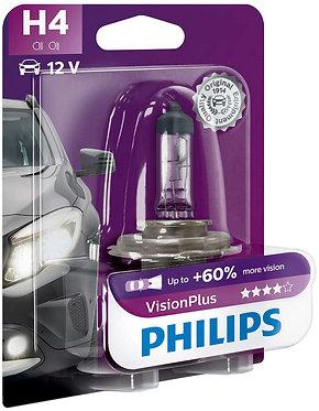 Автолампа Philips VP 12342-B H4 Vision Plus 12V 60/55W (P43t-38) (блістер)