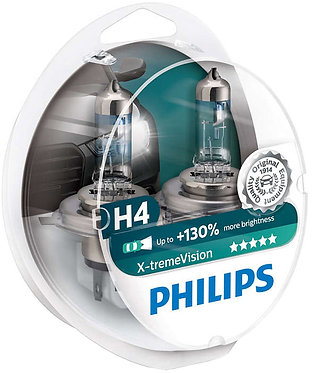 Автолампа Philips XVS2 12342 H4 X-treme Vision SP 12V 60/55W (P43t-38) (блістер)