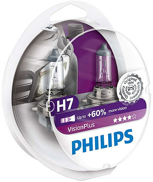 Автолампа Philips VPS2 12972 H7 Vision Plus 12V 55W (PX26d) (блістер)