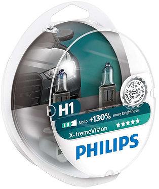 Автолампа Philips XVS2 12258 H1 X-treme Vision SP 12V 55W (P14,5s) (блістер)