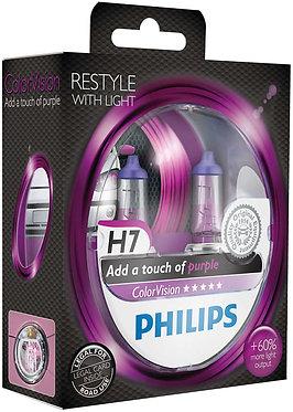 Автолампа Philips H7 12972CVPPS2 ColorVision Purple 12V 55W (PX26d) (блістер)