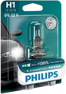 Автолампа Philips XVB1 12258 H1 X-treme Vision BP 12V 55W (P14,5s) (блістер)