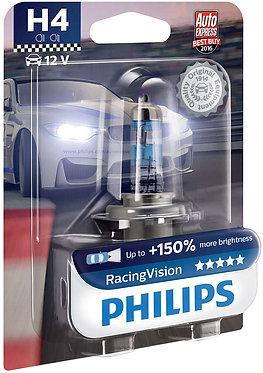 Автолампа Philips RVB1 12342 H4 Racing Vision 12V 60/55W (P43t-38) (блістер)