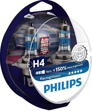 Автолампа Philips RVS2 12342 H4 Racing Vision 12V 60/55W (P43t-38) (блістер)